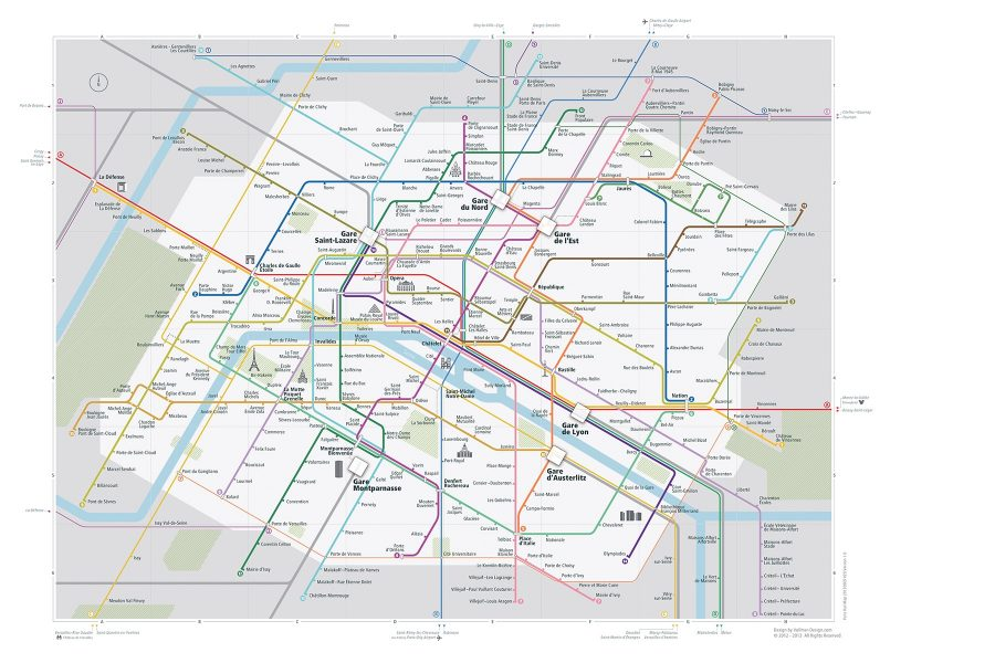 City Rail Map Paris