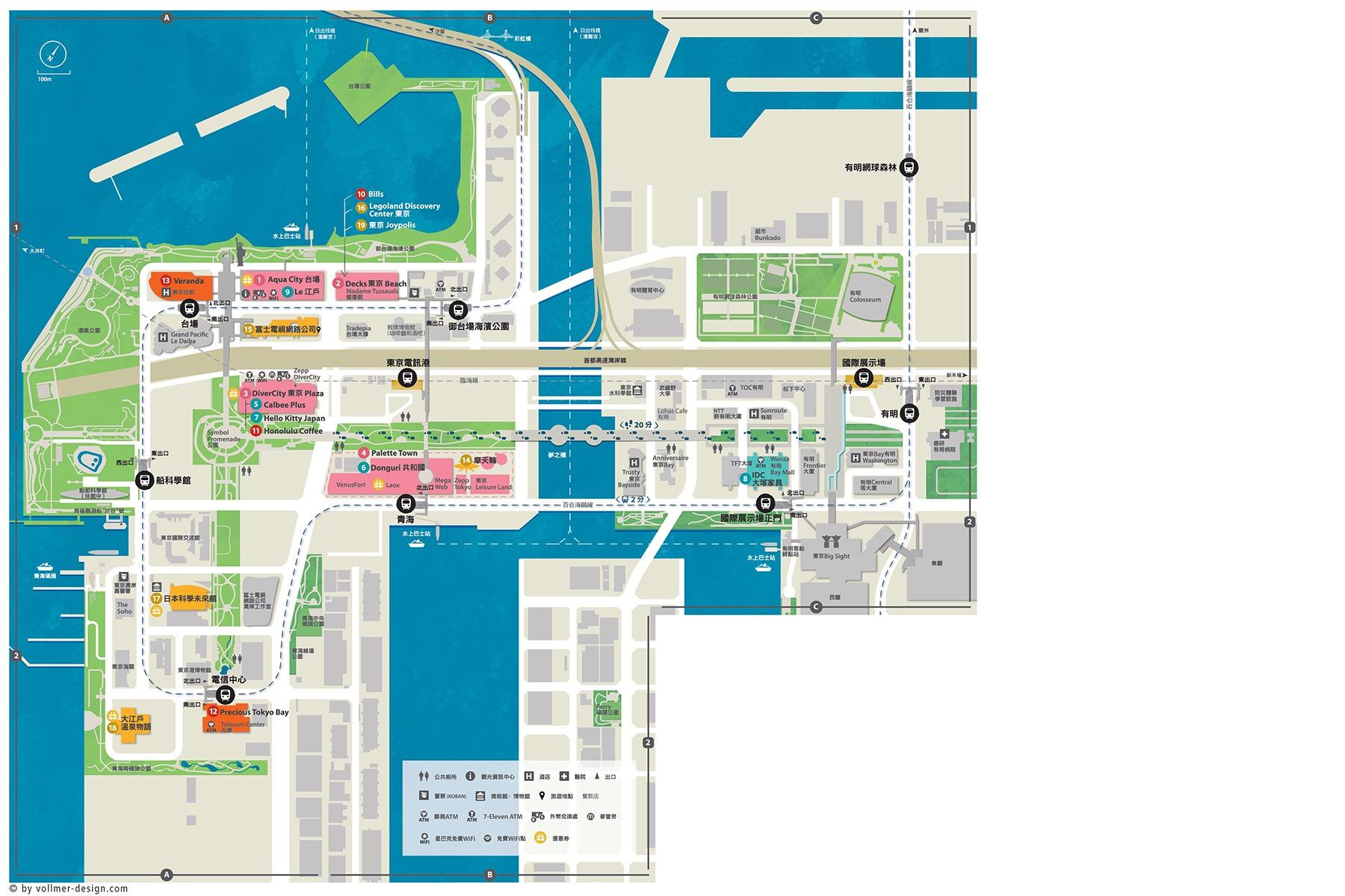Odaiba Area Map
