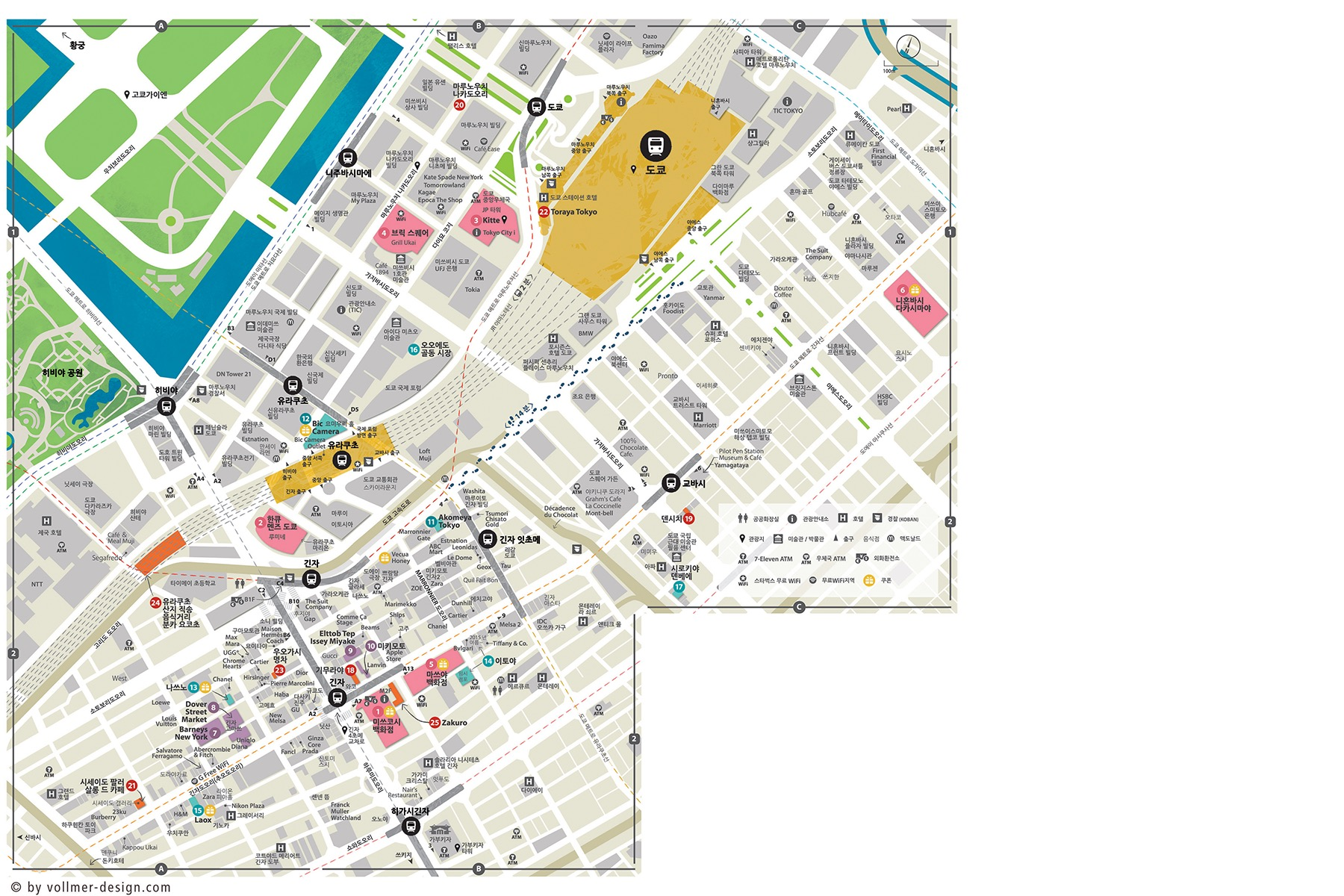 Tokyo Station Area Map