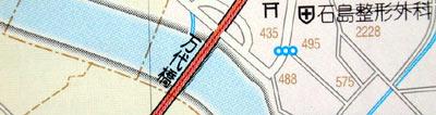 the map shows a bridge